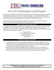 Palm Beach Gdns Police Foundation Scholarship Award