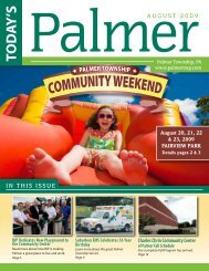 AUGUST 2009 IN THIS ISSUE - Palmer Township