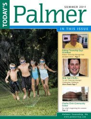 IN THIS ISSUE - Palmer Township