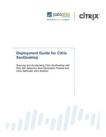 Deployment Guide for Citrix XenApp Virtual Desktop Infrastructure