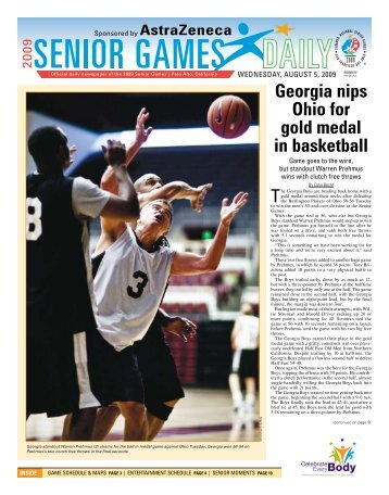 Senior Games Daily (Aug. 5, 2009) - Palo Alto Online