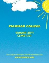 Summer 2011 - Palomar College