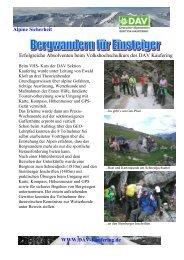 Alpine Sicherheit Www.dav-Kaufering.de Erfolgreiche Absolventen ...
