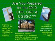 Are You Prepared for the 2010 CBC, CRC & CGBSC - Palos Verdes ...