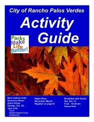 City of Rancho Palos Verdes Recreation & Parks Activity Guide