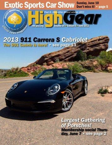 June 2012 - Rocky Mountain Region Porsche Club - Porsche Club ...