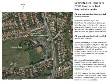 A Map to Hess Park in Rancho Palos Verdes - Palos Verdes on the ...