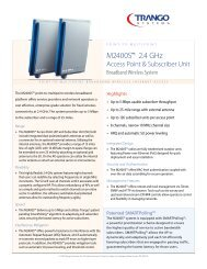 m2400S™ 2.4 GHz - ANDESwireless