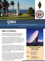 November QRO - Palos Verdes on the Net