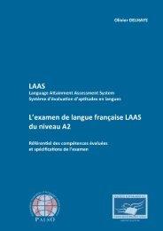 L'examen de langue française LAAS du niveau A2 - Palso