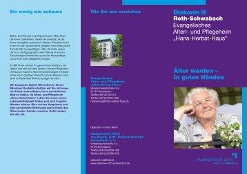 Hans-Herbst-Haus - Diakonie Roth - Schwabach