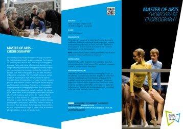 Studiengang Choreografie - Palucca Schule Dresden - Hochschule ...