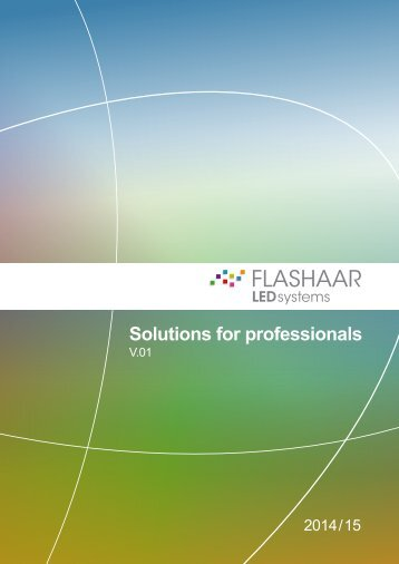 Katalog FLASHAAR LEDsystems 2014/15 - Solutions for professionals