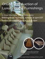 Online Only Auction of Luxury Home Furnishings - Pamela Rose ...