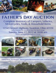 FATHER'S DAY AUCTION - Pamela Rose Auction Company, LLC