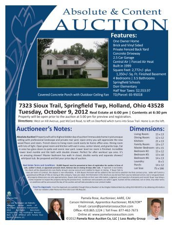 7323 Sioux Trail - R.. - Pamela Rose Auction Company, LLC