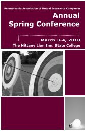 Annual Spring Conference - Pennsylvania Association of Mutual ...