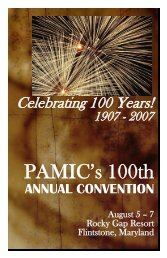 PAMIC's 100th Annual Convention - Pennsylvania Association of ...