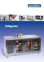 Kühl- und Tiefkühltische