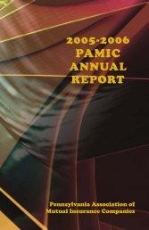 2005–2006 Annual Report - Pennsylvania Association of Mutual ...
