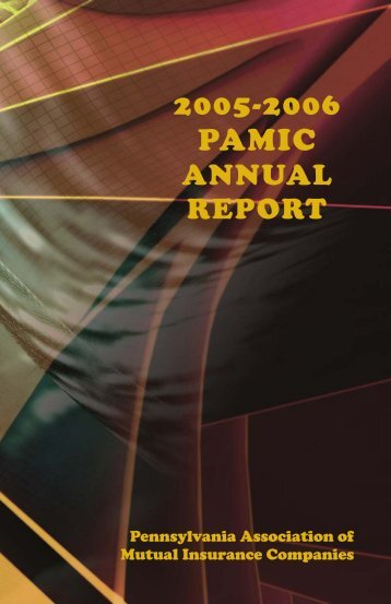 2005–2006 Annual Report - Pennsylvania Association of Mutual ...