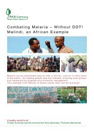 Combating Malaria - Without DDT! - Pestizid Aktions-Netzwerk eV