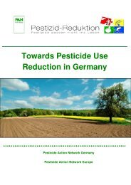 Towards Pesticide Use Reduction in Germany - Pestizid Aktions ...