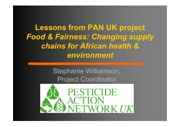 Food & Fairness: Changing supply chains for African health ...