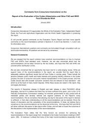 Comments from Consumers International on the Report of the ...
