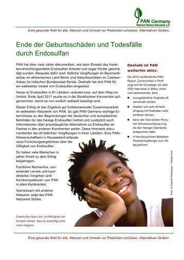 Ende der Geburtsschäden und Todesfälle durch ... - PAN Germany