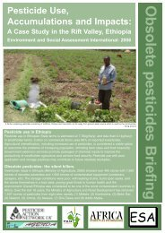 Pesticide Use in Rift Valley, Ethiopia - Pesticide Action Network UK