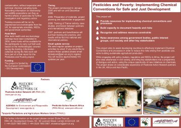 Pesticides and Poverty - Pesticide Action Network UK