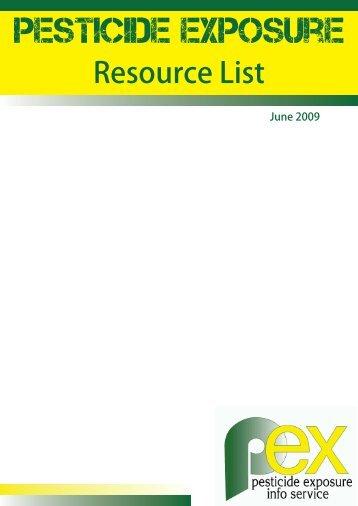 Pesticide Exposure Resource list - Pesticide Action Network UK