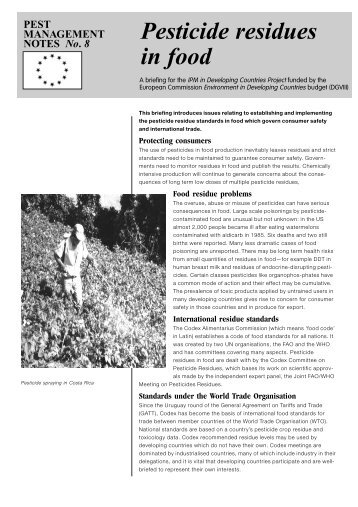 Pesticide residues in food - Pesticide Action Network UK
