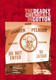 Deadly Chemicals in Cotton - Pesticide Action Network UK