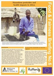 Hazardous pesticides and health impacts in Africa - Pesticide Action ...