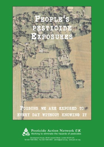 People's pesticide exposures - poisons we are exposed to every day ...