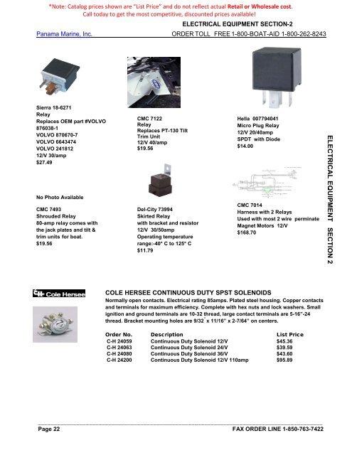 Sierra MP39800 Marine Ignition Switch 4 Pos Con
