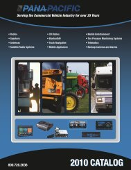 Serving the Commercial Vehicle Industry for over 35 ... - Pana-Pacific