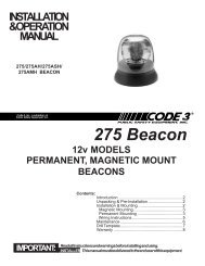 275 Series Beacon Installation Guide - Code 3 Public Safety ...