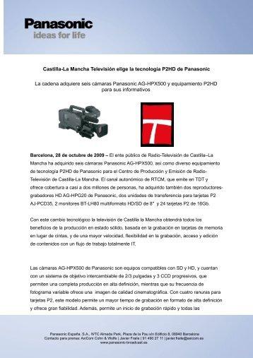 Castilla-La Mancha Televisión elige la tecnología P2HD de ...