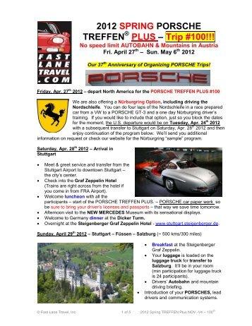 2012 SPRING PORSCHE TREFFEN - Fast Lane Travel