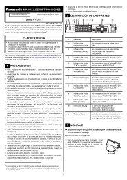 FX-301 Manual de Instrucciones - Panasonic Electric Works