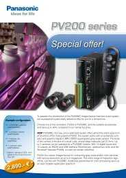 PV200 series - Panasonic Electric Works Europe AG