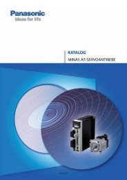 Katalog MINAS A5 (1,42MB) - Panasonic Electric Works Austria GmbH