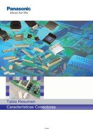 Tabla Resumen Características Conectores - Panasonic Electric ...