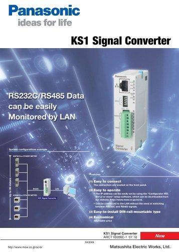 KS1 Signal Converter - Panasonic Electric Works Europe AG