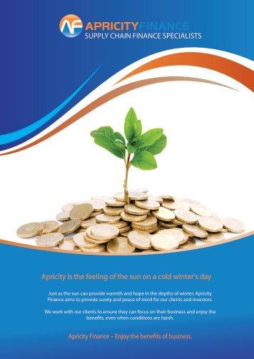 Apricity Finance Supplier Brochure