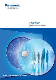 Overview PaPIR motion sensors - Panasonic Electric Works Europe ...