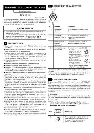 EX-30 Manual de Instrucciones